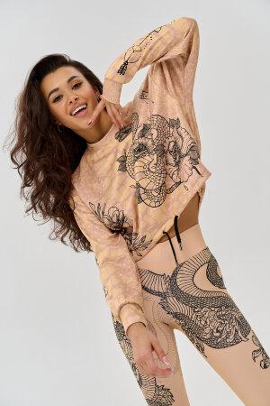 """Толстовка Bona Fide: Sweety Short Tattoo """"Beige"""""""